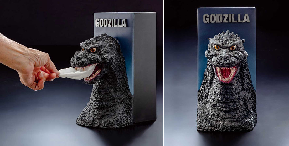 Finally, A Godzilla Bust Tissue Dispenser