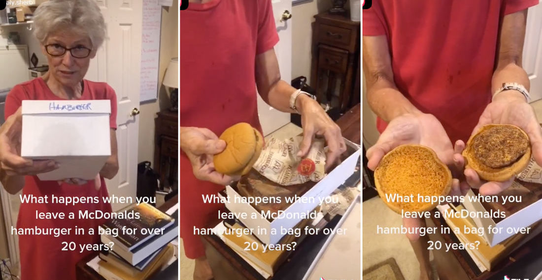 Grandma Unboxes 24-Year Old McDonald's Hamburger She's Been Keeping Since 1996