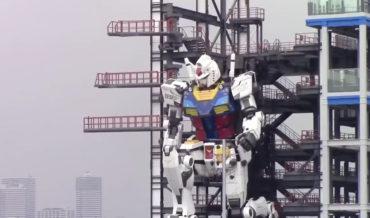 Video Of Japan's Giant Gundam Robot Walking, Kneeling