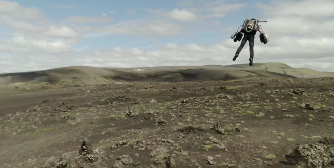 Piloting A Jet Suit Around The Beautiful Landscapes Of Iceland