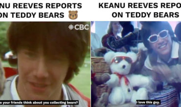 Keanu Reeves Reporting From The First Canadian International Teddy Bear Convention In 1984