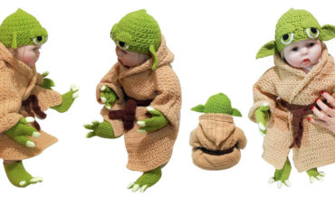 Hand-Knit Yoda Costume For Infants