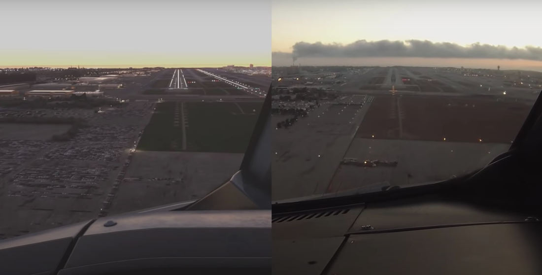 Landing At LAX In Real Life Vs In Microsoft Flight Simulator 2020