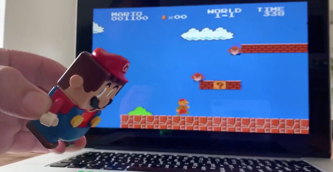 Guy Mods New LEGO Mario Toy Into Controller To Play The Original Super Mario Bros.