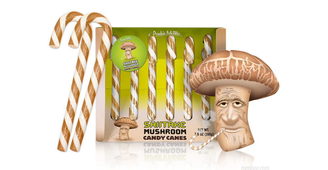 Real Products That Exist: Mushroom Flavored Candy Canes