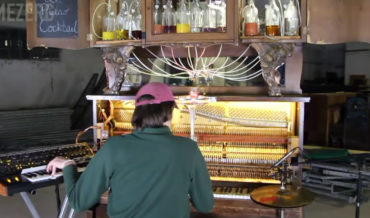 A Piano That Slowly Dispenses A Custom-Made Cocktail As Different Keys Are Pressed