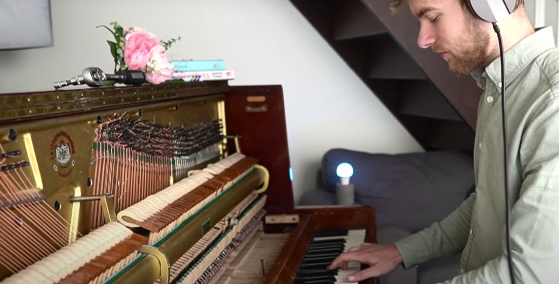 Guy Replaces All The Strings In A Piano With Guitar Strings (And Vice Versa)