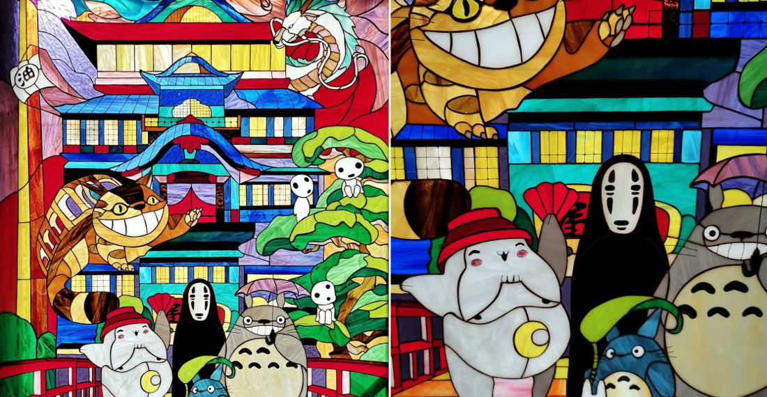 Oh Wow: This Studio Ghibli Character Stained Glass Window