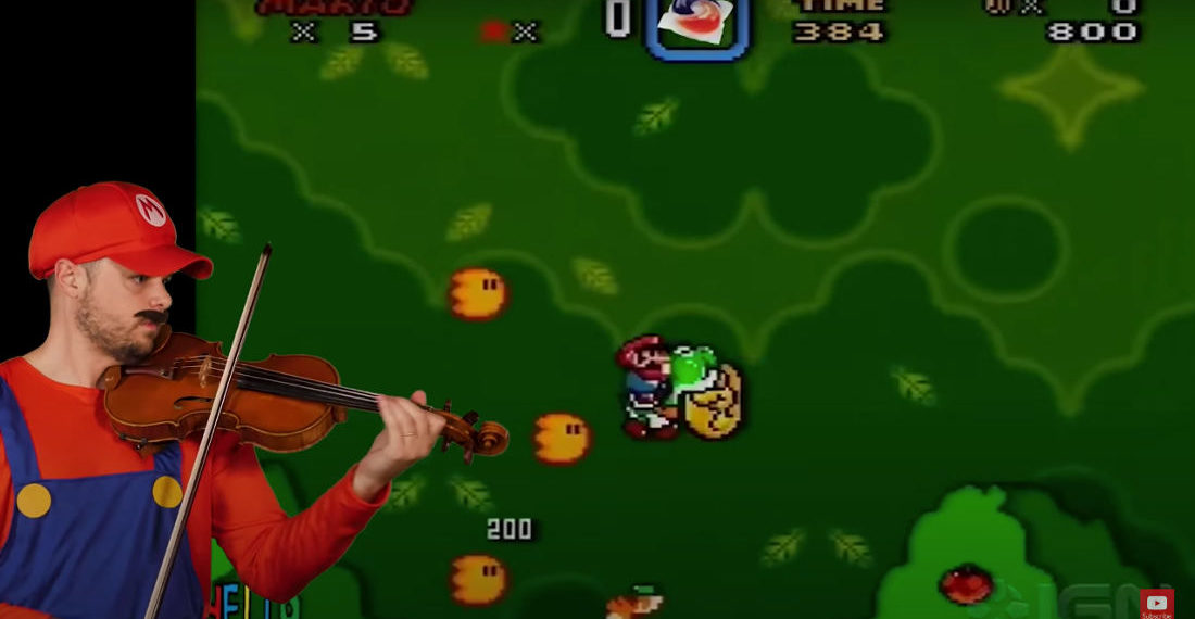 5 Levels Of Performing The Super Mario World Theme On Violin, From Noob To Epic
