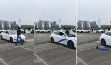 Tesla Model 3 Rapidly Disassembles Pedestrian Dummy During Auto Brake Test