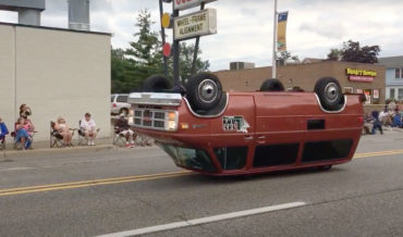Ultra Customized Van That Appears To Drive Upside Down And Backwards