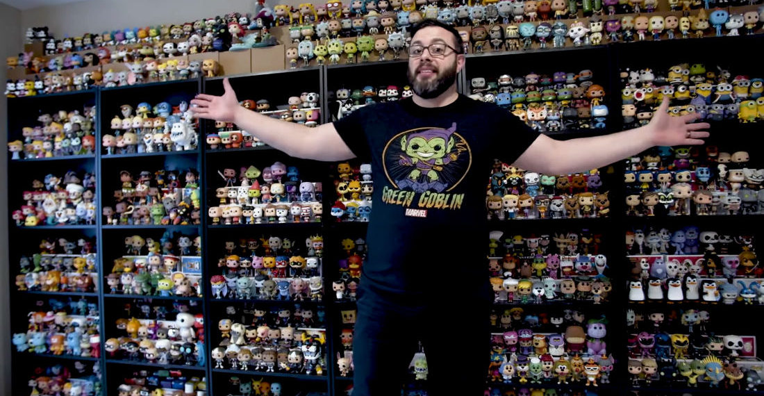 5,306: Man Shows Off His World's Largest Collection Of Funko Pop! Figures