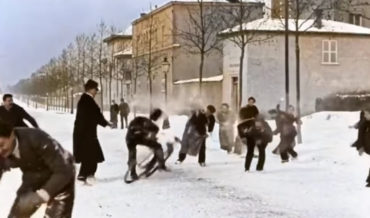 Holy Smokes: French Snowball Fight Film From 1896 Gets Upscaled, Colorized Using AI