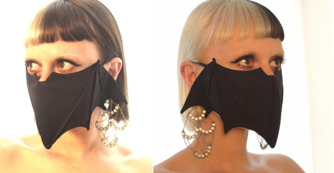 Bat Shaped Face Masks For Halloween Or Everyday Witch Wear