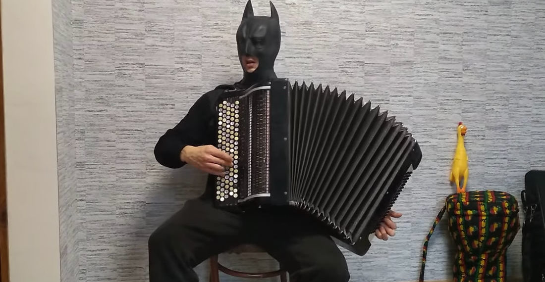 Batman Covers Hans Zimmer's 'No Time For Caution' From Interstellar On Accordion