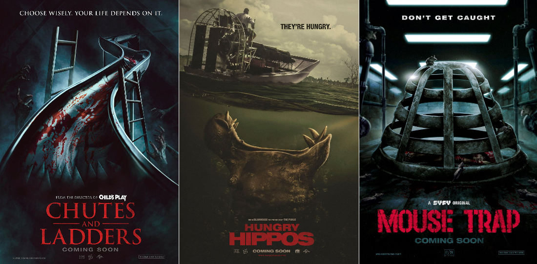 Oh Wow: Children's Board Games Reimagined As Horror Movie Posters