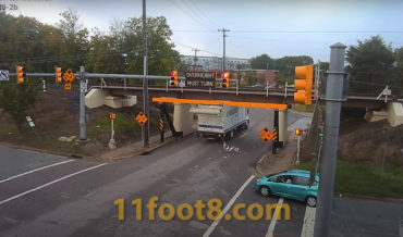 New 8-Inch Taller 'Can Opener Bridge' Claims The Roof Of A Speeding Truck