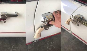 Cadillac With Colt .45 Replica Car Door Handles