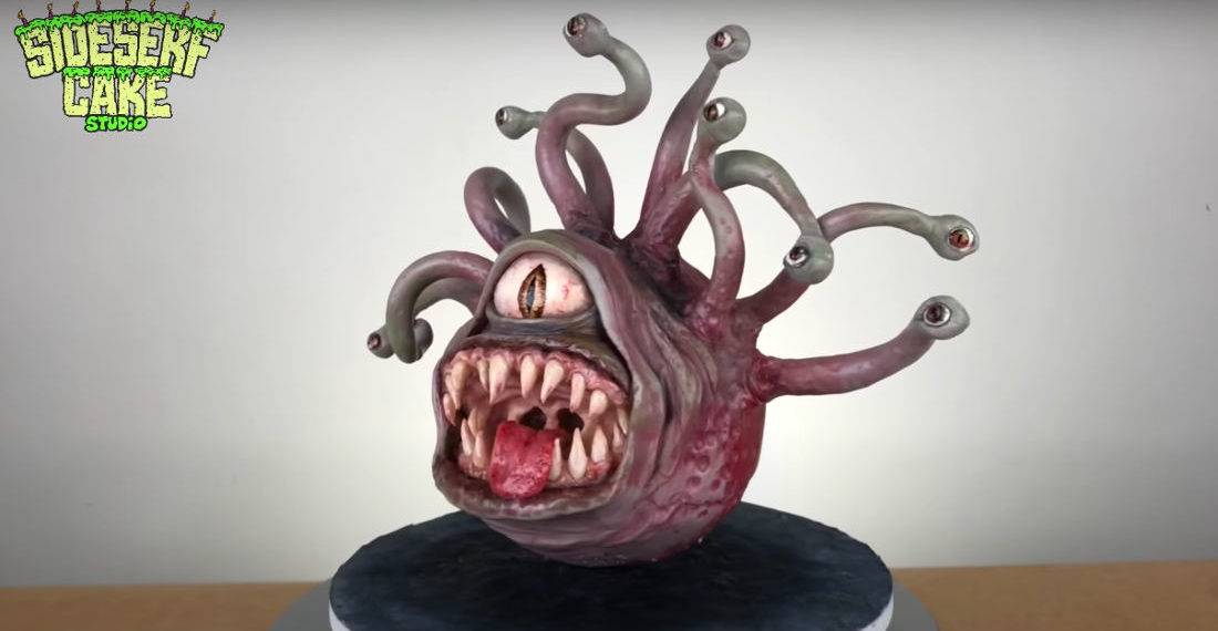 Making A Realistic Dungeons & Dragons Beholder Cake