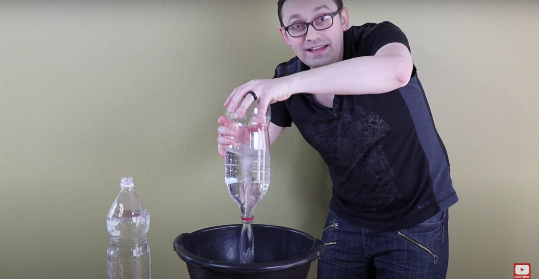 Valuable Info: The Fastest Way To Empty A Narrow-Necked Liquid-Filled Bottle