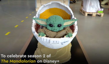 LEGO Master Builders Construct Full-Size Baby Yoda In Crib