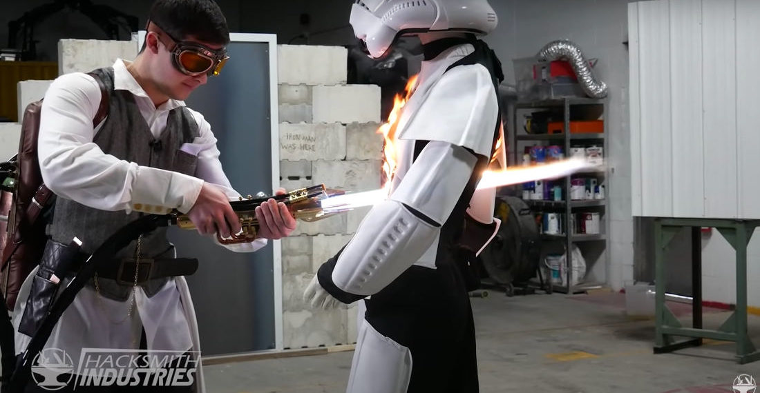 Testing The World's First 4000-Degree Retractable Blade Plasma Lightsaber