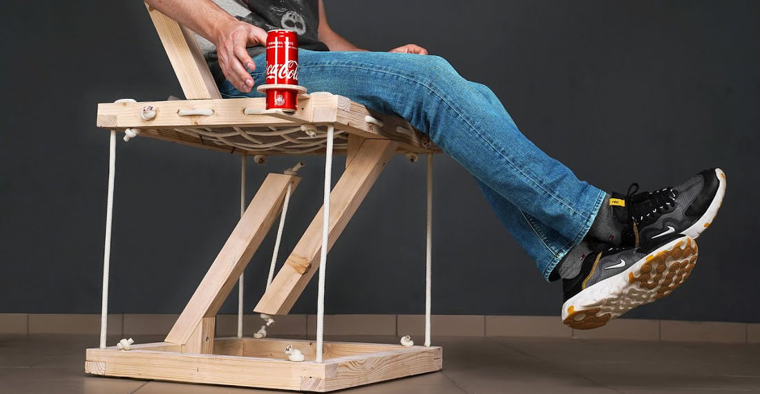 Building A Floating Tensegrity Chair Large And Strong Enough To Support A Person