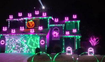 Over The Top Halloween Lights Display Choreographed To Metallica's 'Enter Sandman'