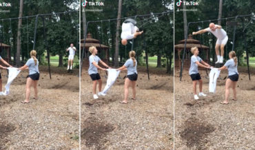 Oh Wow: Mr. Clean Backflips Off Swing Set Into His Pants