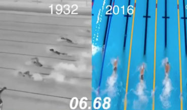 A Side-By-Side Comparison Of The Speed Of 100-Meter Freestyle Swimming, 1932 Vs  2016