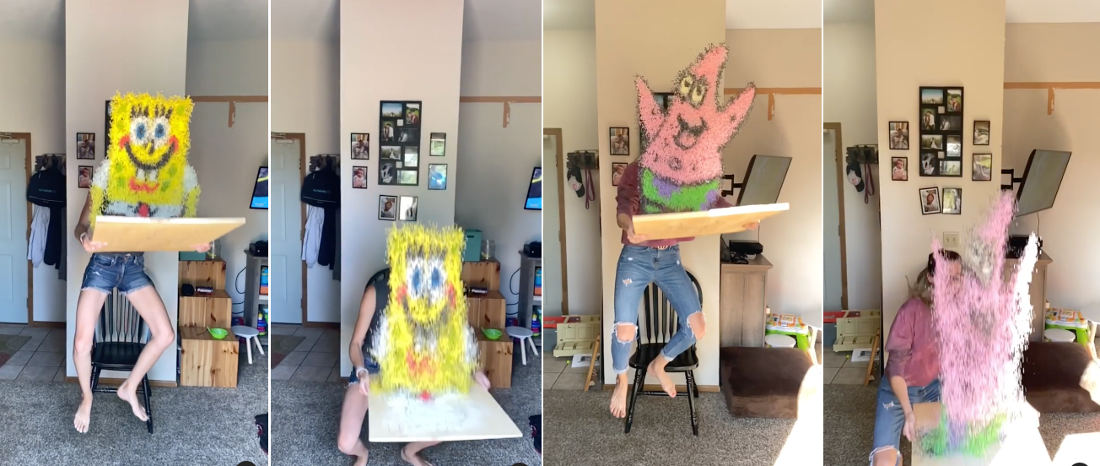 Whoa: This Impressive Spongebob And Patrick Midair Rice Art