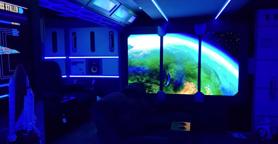 I'd Live There: Guy Builds Star Trek Themed Basement Man Cave Theater