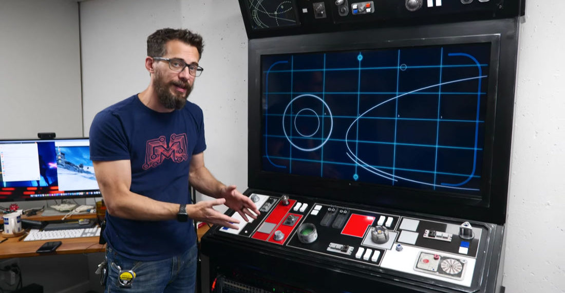 Guy Builds Giant Star Wars Inspired Entertainment Console And Server Rack