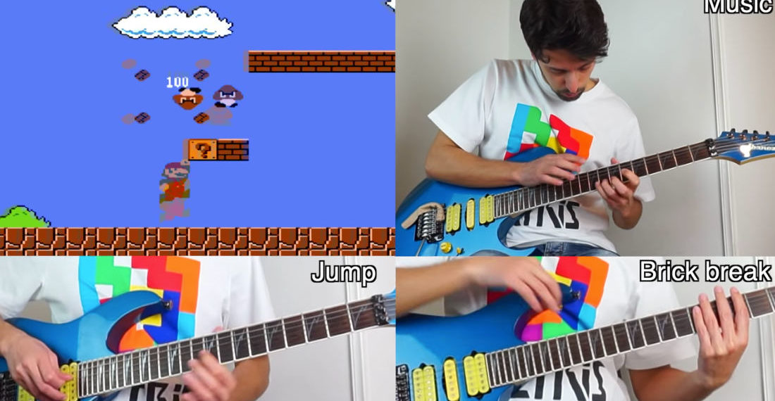 Guy Creates All Super Mario Bros. Sound Effects On Electric Guitar