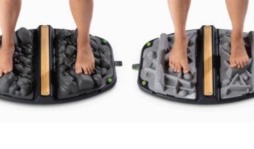 Uncomfortable Looking Standing Mats Designed To Replicate Rocks And Branches