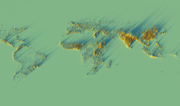 A 3D Visualization Of The World's Population Density