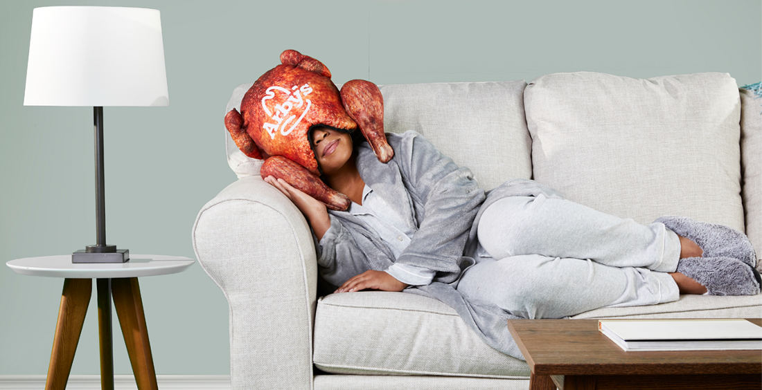 Arby's Deep Fried Turkey Shaped Pillow Napping Helmet