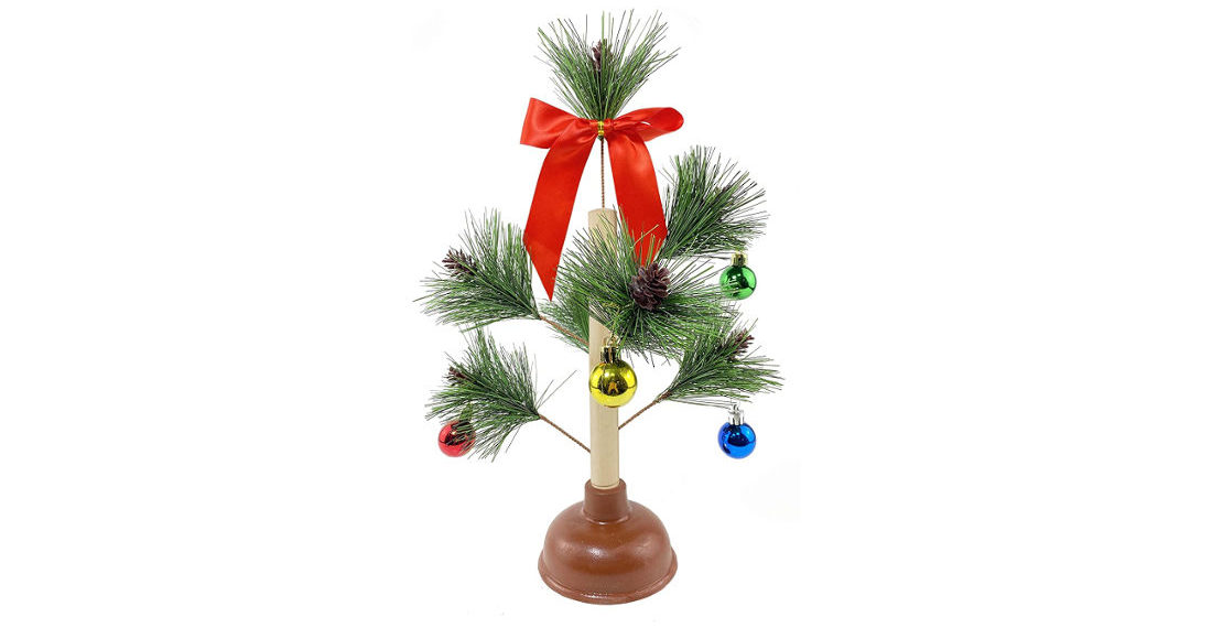 Finally, The Christmas Tree Toilet Plunger Your Holidays Have Been Missing