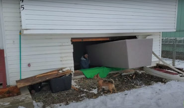 Man Removes Entire Double Window Frame To Fit Couch In Basement