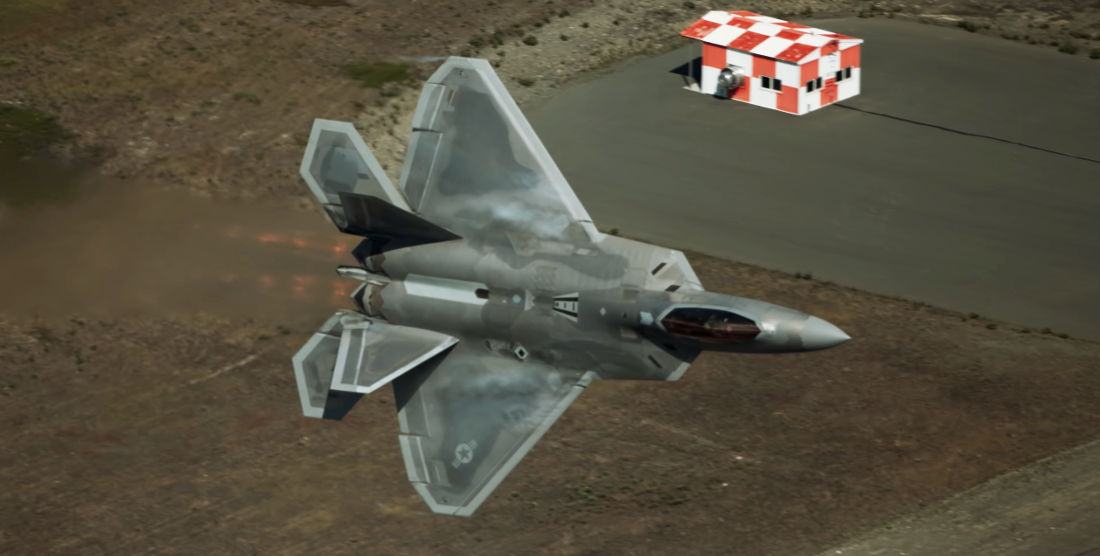 Eye Candy: F-22 Raptor Performing Maneuvers In Ultra-Slow Motion