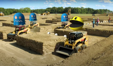 Playing Pac-Man With Radio Controlled Heavy Machinery