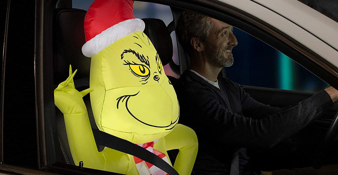For The Carpool Lane: An Inflatable Grinch Car Passenger