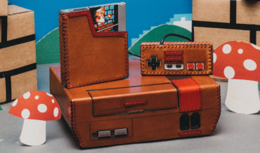 A Beautiful One-Of-A-Kind Leather-Wrapped Nintendo Entertainment System