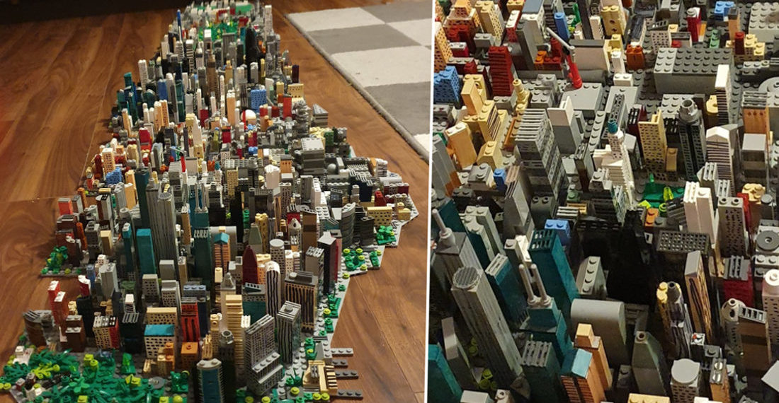 14-Year Old Builds Incredible Manhattan Model Out Of LEGO