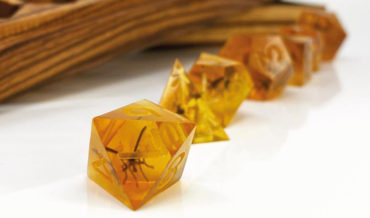 Jurassic Park Inspired Mosquito In Amber Gaming Dice
