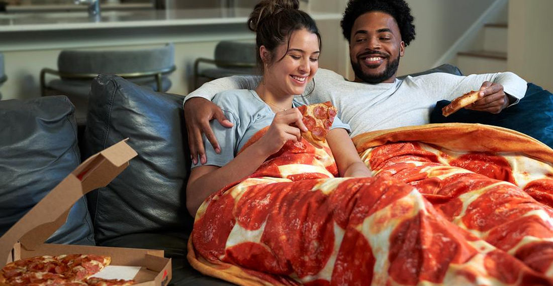 Pizza Hut's 15-Pound Weighted Original Pan Pizza Blanket