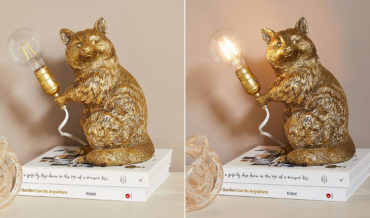 Finally, The $200 Raccoon Holding A Lightbulb Lamp Of Your Dreams