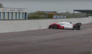 Self-Driving Roborace Car Starts, Immediately Crashes Into Wall