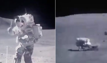 Sped Up Footage Of Astronauts On The Moon