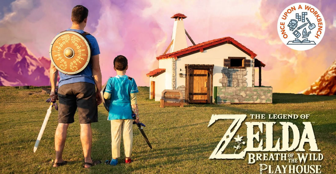 Father Builds His Children A Zelda: Breath Of The Wild Playhouse